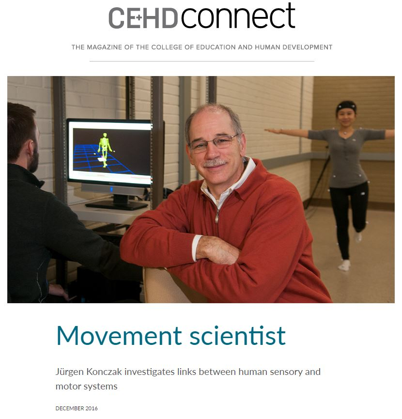 CEHD Connect article Movement Scientist